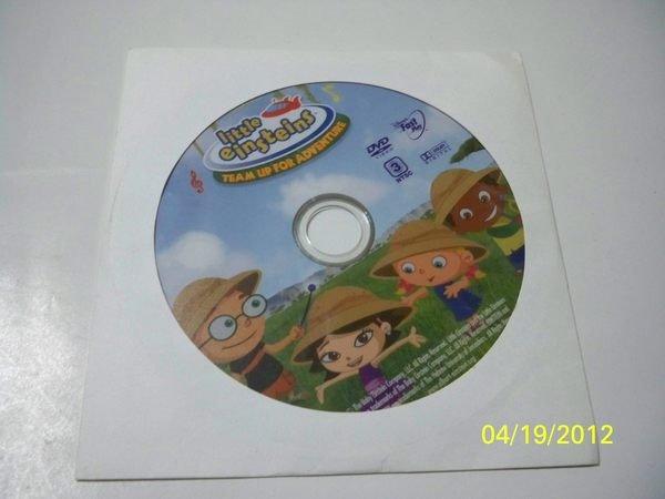 【sigmanet家庭百貨】九成五新迪士尼動畫little einstnins TEAM UP FOR ADVENTURE DVD