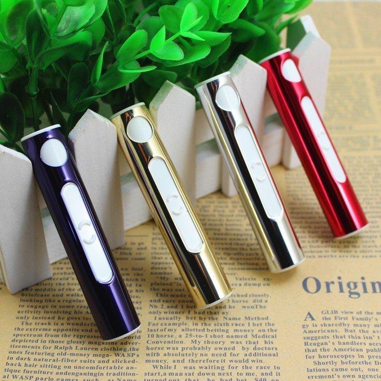 ~~ ~~USB 充電式口紅型環保打火機 點煙器 防風 安全 金屬色 免瓦斯 行動電源 尾牙抽獎 聖誕節 情人節