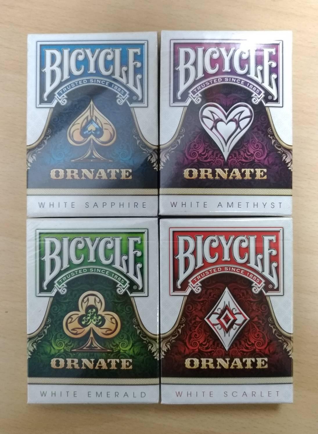 溜溜美國原裝進口 BICYCLE WHITE ORNATE 4色 華麗撲克牌 絕版 撲克牌
