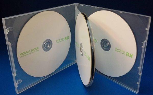 * 阿媽的店 * CD DVD保存盒4片裝有膜(厚 1CM) PP 透明十個100元 2箱200個2000元免運