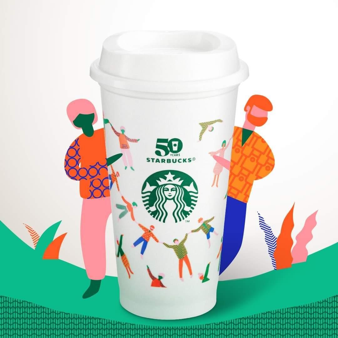 星巴克 星巴克50週年紀念Reusable Cup隨行杯 starbucks 2021/9/28上市