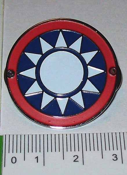 可欣 :3公分紅圈青天白日帽徽 徽章(烤漆)