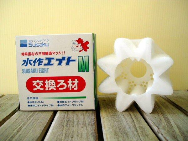 F-1025 微笑的魚水族☆ Suisaku-水作【內置空氣過濾器(水妖精)替換棉 M  1入】