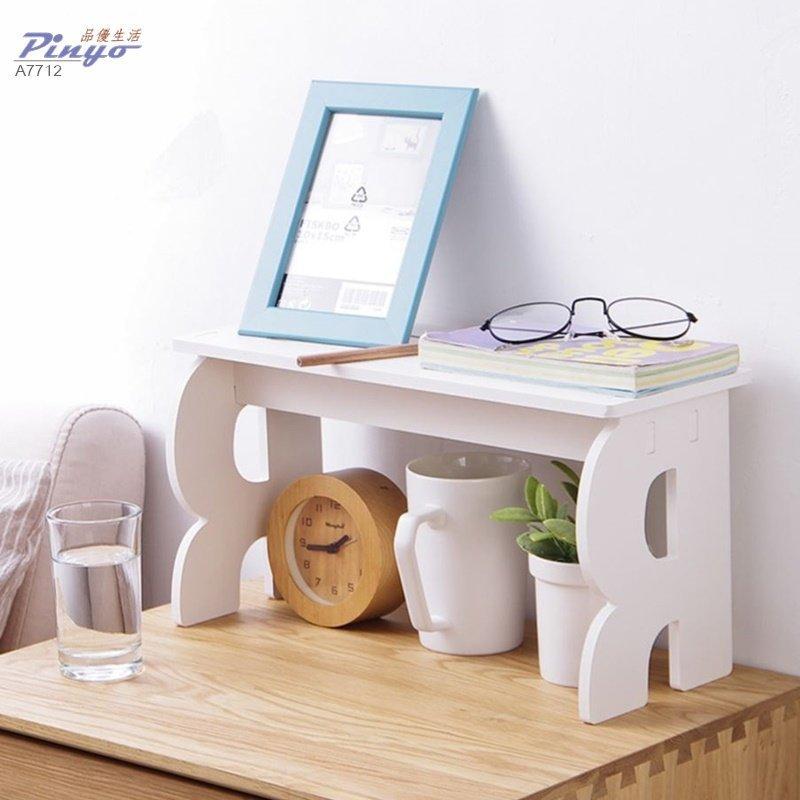 ANLIFE》桌面化妝品收納盒置物架 辦公室書桌簡易書架整理架 桌上置物架簡約白色北歐風格A7712