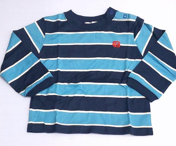春秋款零碼 *100%純棉美國品牌*條紋男童長袖上衣90cm( ) ╭☆Q-BABY