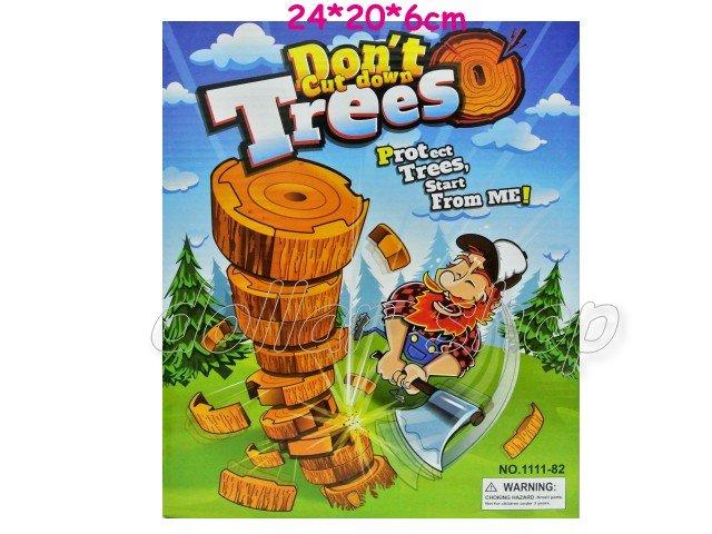 寶貝玩具屋二館☆【盒玩】閤家歡遊戲---快樂伐木樵夫砍樹益智桌遊組82