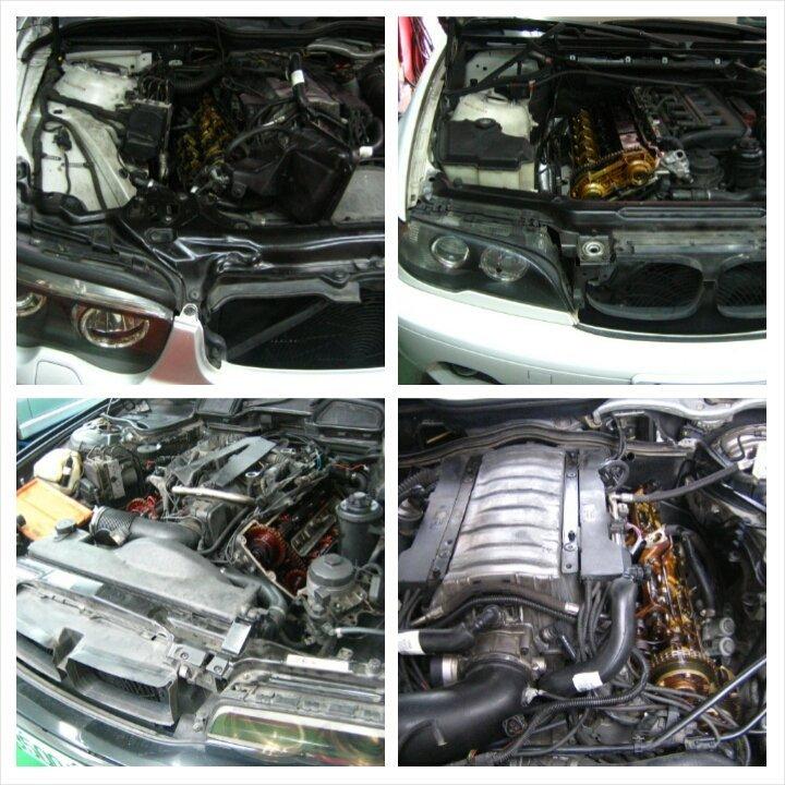 BMW 汽門蓋墊片 後曲軸油封 油底殼墊片 漏油處理 E36 E46 E90 E91 E92 F30 318 320