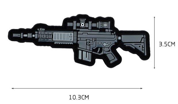 JHS((金和勝 生存遊戲專賣))魔鬼氈 Q版 SR25K 臂章 9066-14