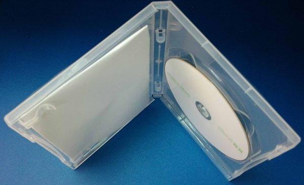 * 阿媽的店 *CD DVD長型保存盒單片裝 透明有膜 厚1.4CM PP 10個100元(一箱100個一千元免運)