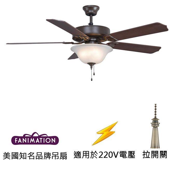 Fanimation Aire Decor 52英吋吊扇附燈(BP225OB1-220)油銅色 適用於220V電壓