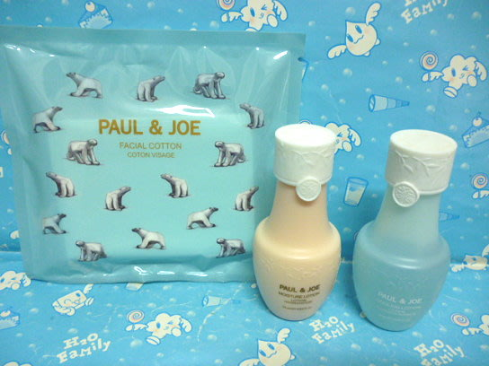 PAUL & JOE 北極熊柔軟化妝棉 + 橄欖沁涼化妝水 25ml + 橄欖保濕精華露 25ml ❤雪兒美妝❤