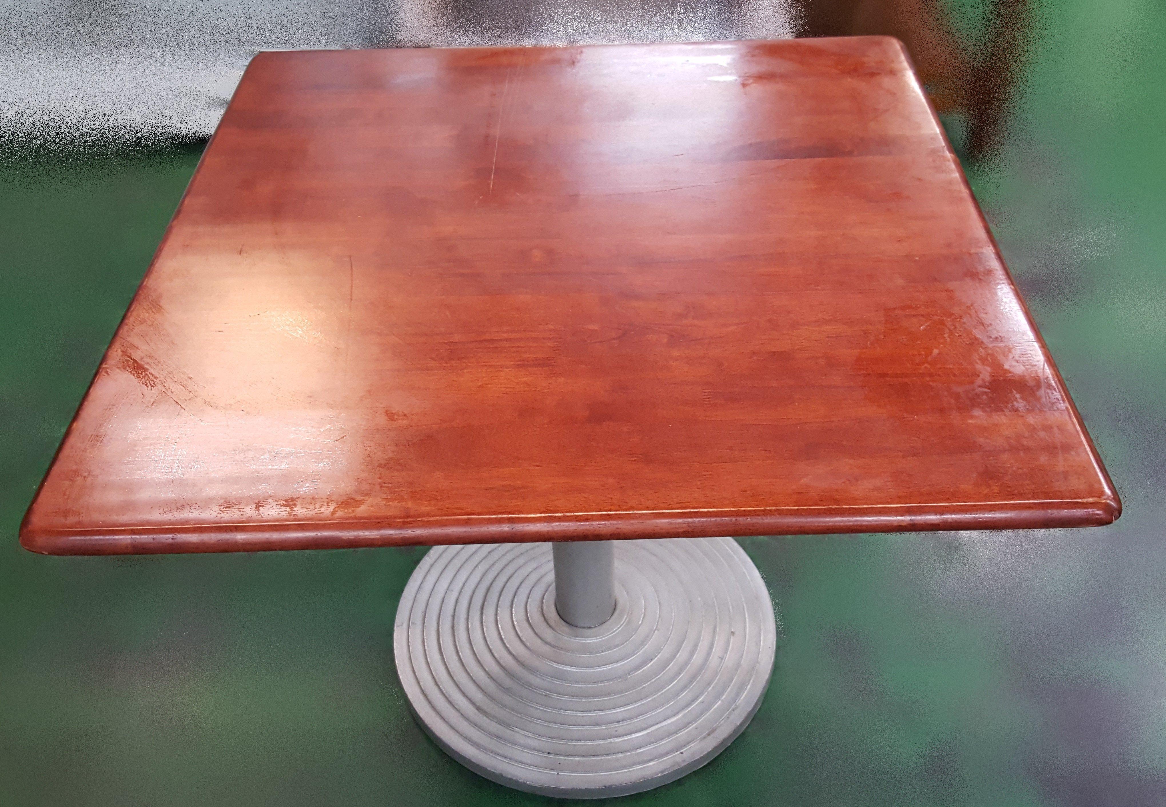 【宏品二手家具館】 台中二手傢俱 A102104銀腳木色餐桌* 洽談桌 會議桌 中古麻將桌 電腦桌 書桌 工作桌 寫字桌