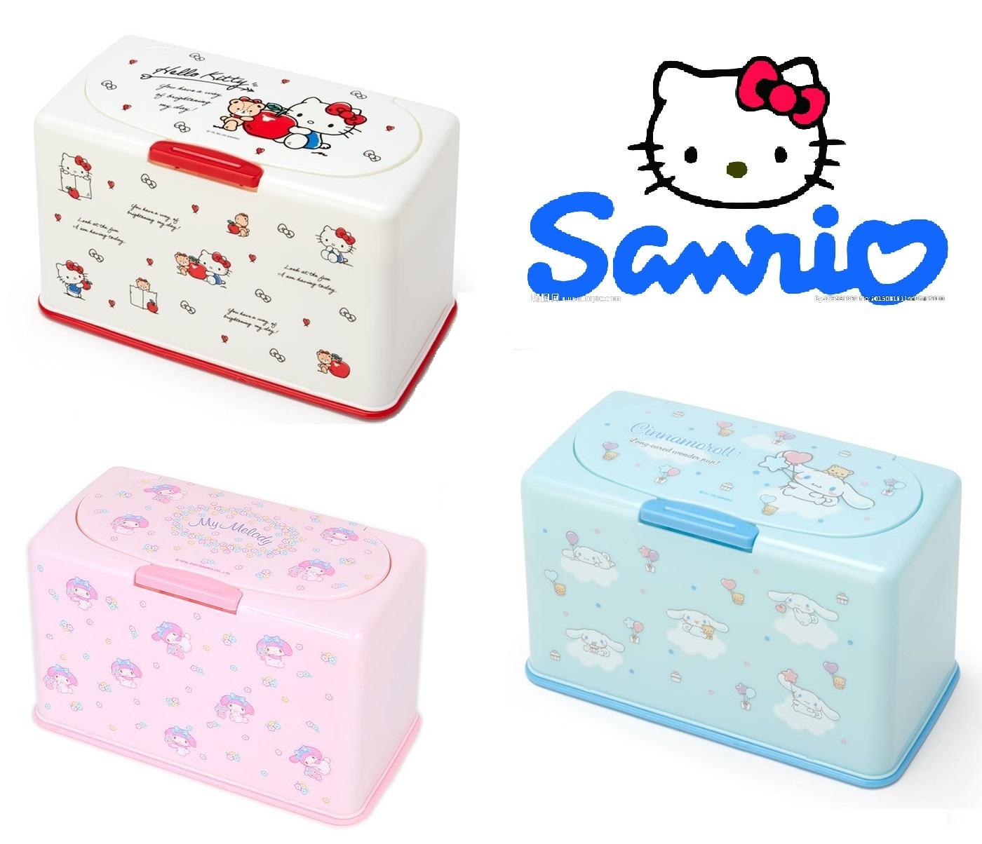 三麗鷗Sanrio《現貨》kitty凱蒂貓 美樂蒂My melody 大耳狗掀蓋口罩收納盒-日用品~日本正品~心心小舖