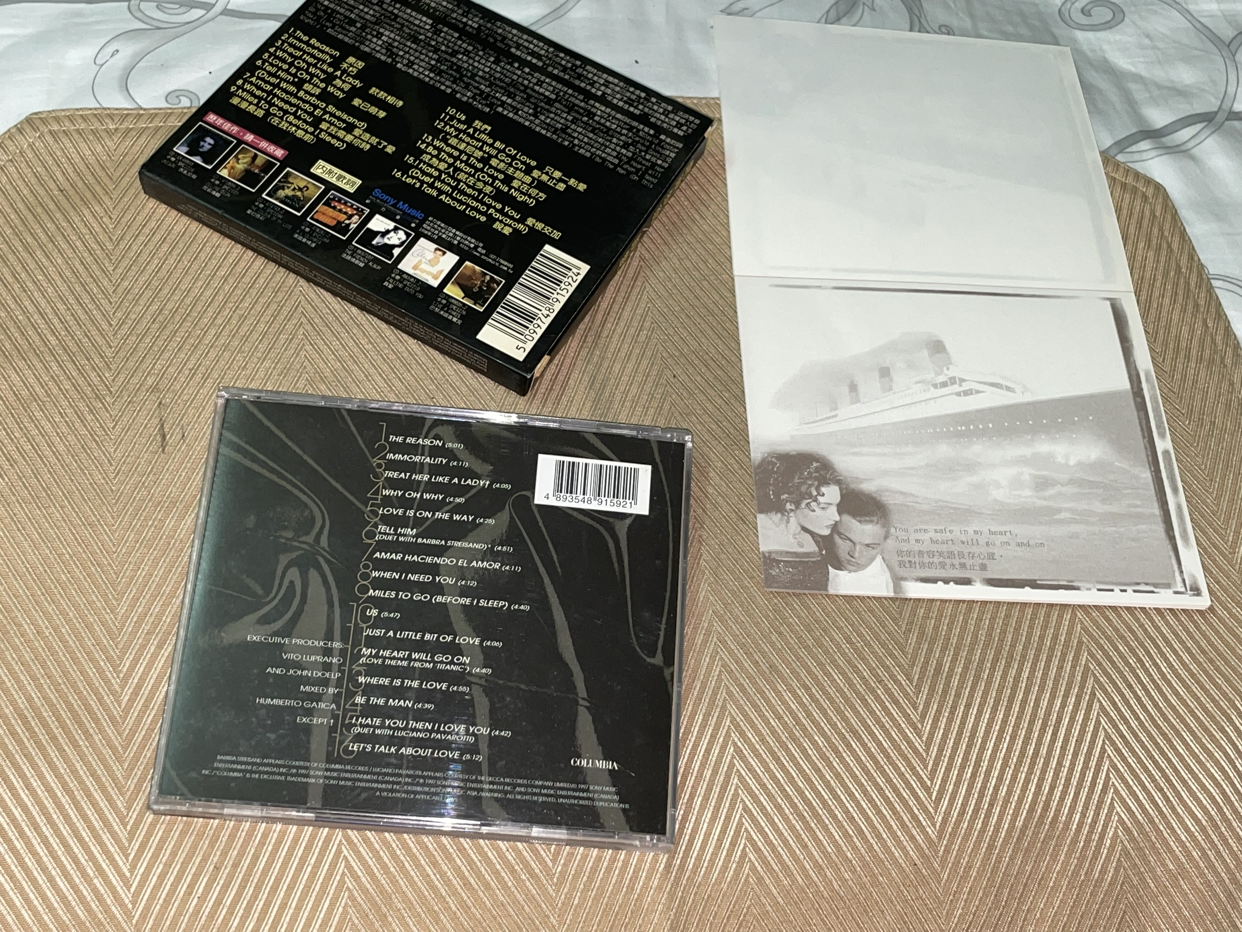 【李歐的音樂】幾乎全新有鐵達尼號劇照信籤CELINE DION 說愛  LETS TALK ABOUT LOVE CD