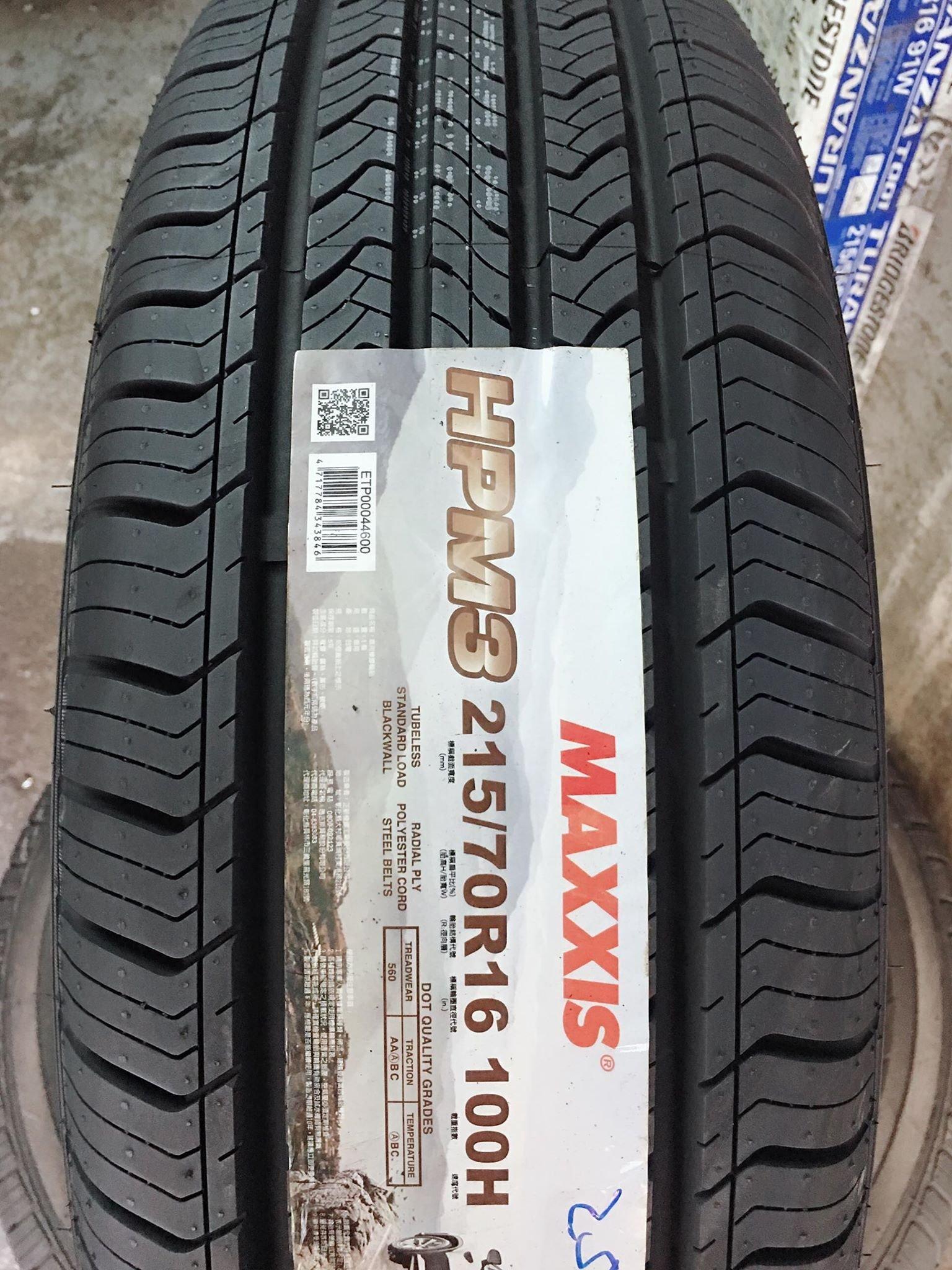 三重 近國道 ~佳林輪胎~ 瑪吉斯 HPM3 215/70/16 MAXXIS 四條合購/條 含3D定位