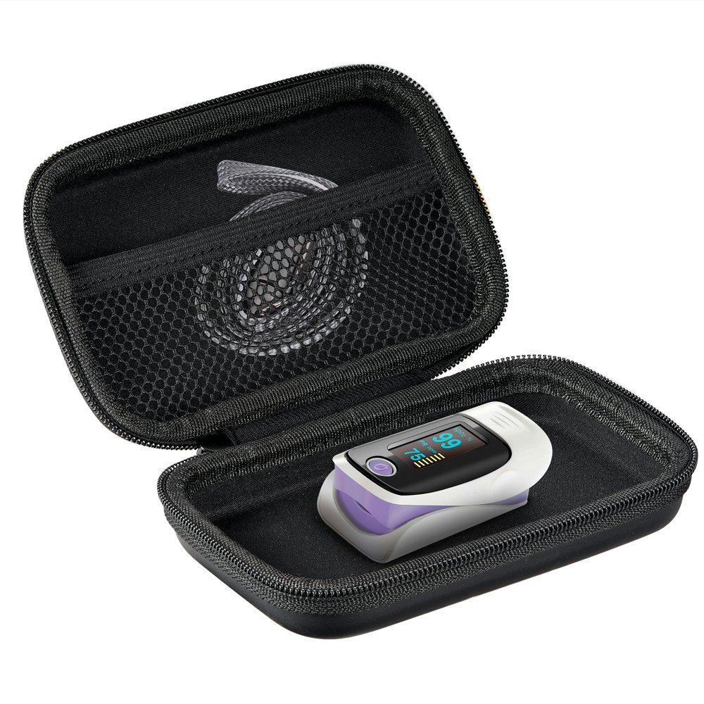 耳機包 音箱包收納盒適用于魚躍YX303/301血氧儀收納包指夾式測血氧飽防壓 便攜保護盒