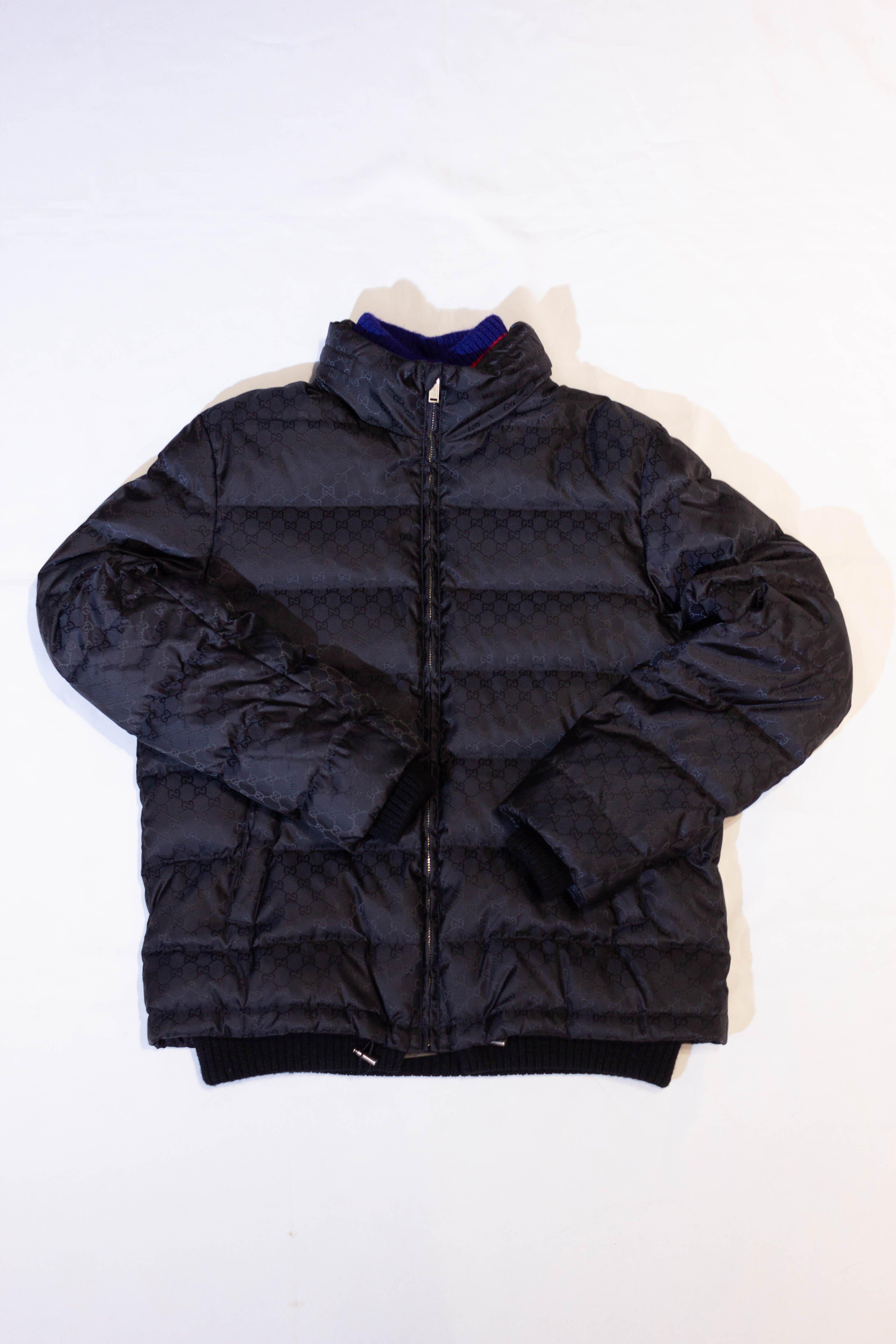 Gucci Classic LOGO cotton jacket. 羽絨外套