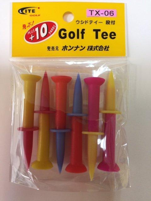 青松高爾夫 LITE橡膠軟TEE ( TX- 06 ) 70mm 6入  130元