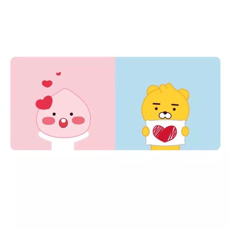 韓國 Kakao Friends 萊恩 防水辦公桌墊 滑鼠墊 4款