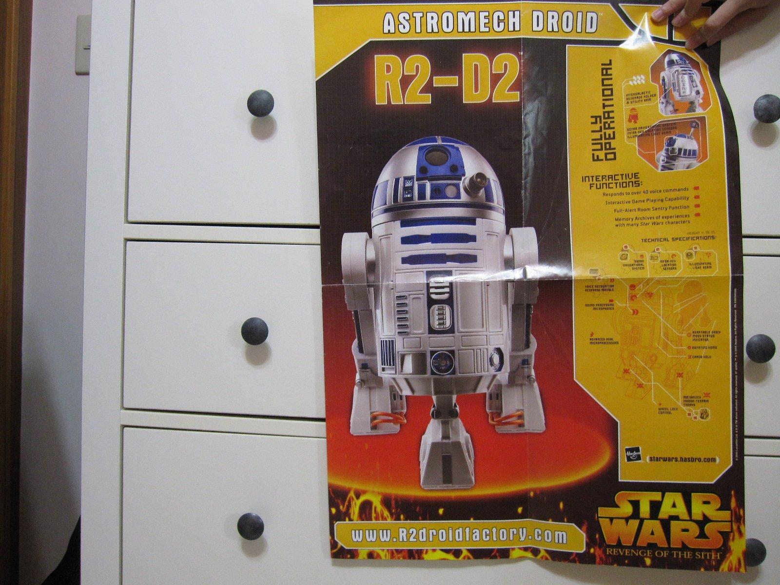 舊海報(放久了)星際大戰STAR WARS R2D2(不是韓索羅C-PO3丘巴卡路克黑武士千年鷹鋼鐵人美國隊長超人)