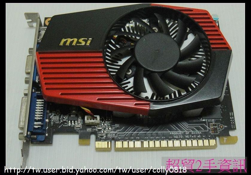 超貿2手資訊 微星 N430GT-MD2GD3/OC/PCI-E/HDMI/2GB-保固1個月
