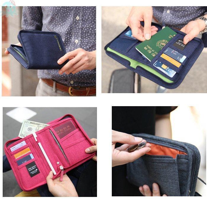 章魚球 旅行 短夾 證件包 護照包 護照夾 手拿包 零錢包 旅遊 收納包 皮夾 信用卡包 卡夾 證件夾【693104