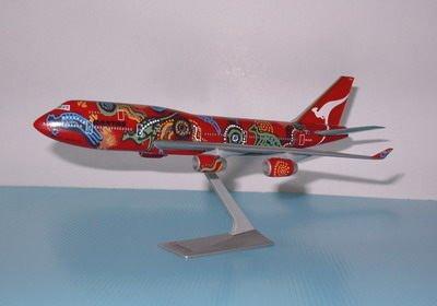 珍上飛模型飛機:B747-400 (1:250) 袋鼠之夢彩繪機(編號:B747443)