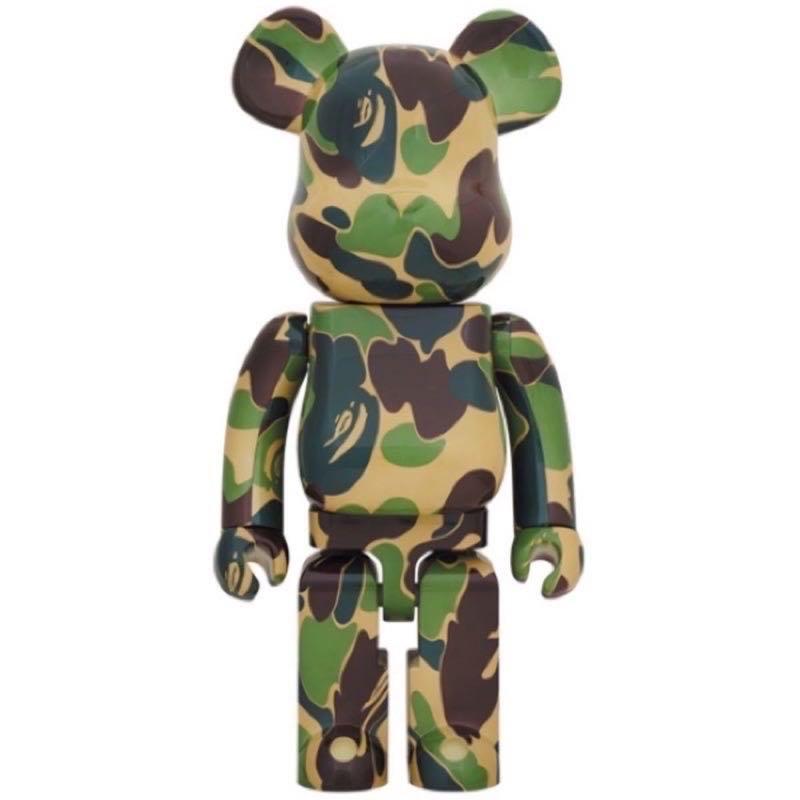 「全新未拆現貨正品」Bearbrick Be@rbrick Bape Ape ABC 綠色迷彩 1000% 庫柏力克熊