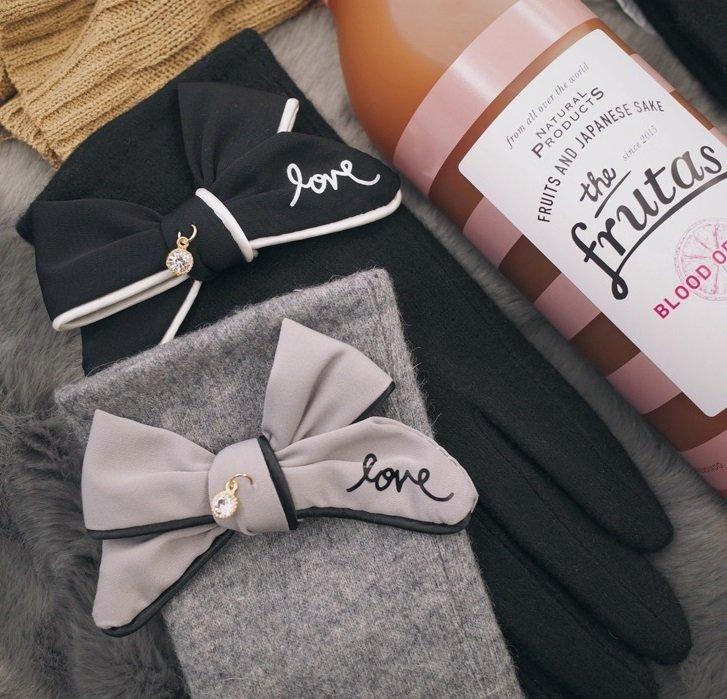 Modem Girl♥推薦自留款 日本專櫃 高質感 內刷毛 優雅蝴蝶結 毛球流蘇 羊毛手套