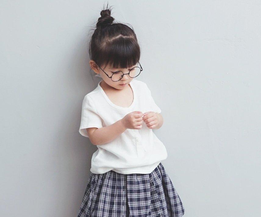 【Mr. Soar】 ** ** A163  韓國style 女童純棉白色短袖上衣