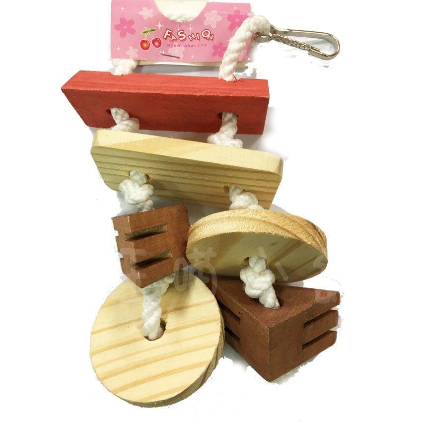 ☆汪喵小舖2店☆ DG 實木玩具小吊飾吊掛玩具 DG222   中型鸚鵡、蜜袋鼯、松鼠