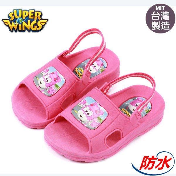童鞋 super wings 超級飛俠-蒂蒂防水拖鞋.浴室拖鞋.桃14-21號