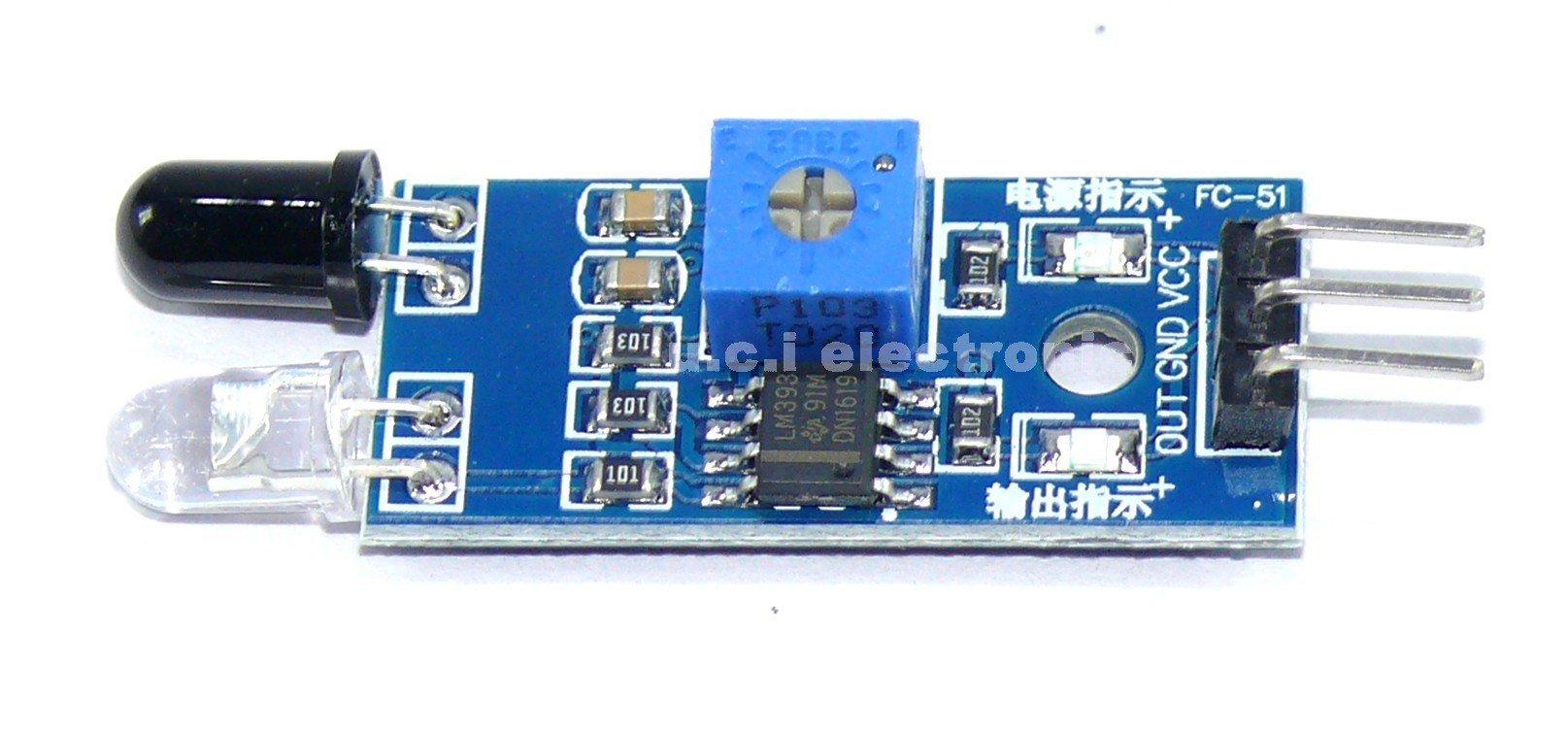 【UCI電子】(13-3) 紅外壁障模組避障小車避障感測器黑白線識別 距離可調(D4A2)