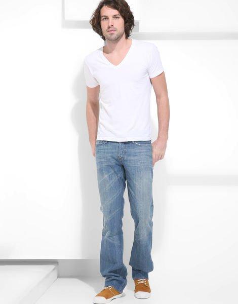 賠售34腰【美國LEVIS專賣】USA製210美金高價單寧Earnest Sewn淺藍刷白腿紋重磅低腰中直筒牛仔褲501