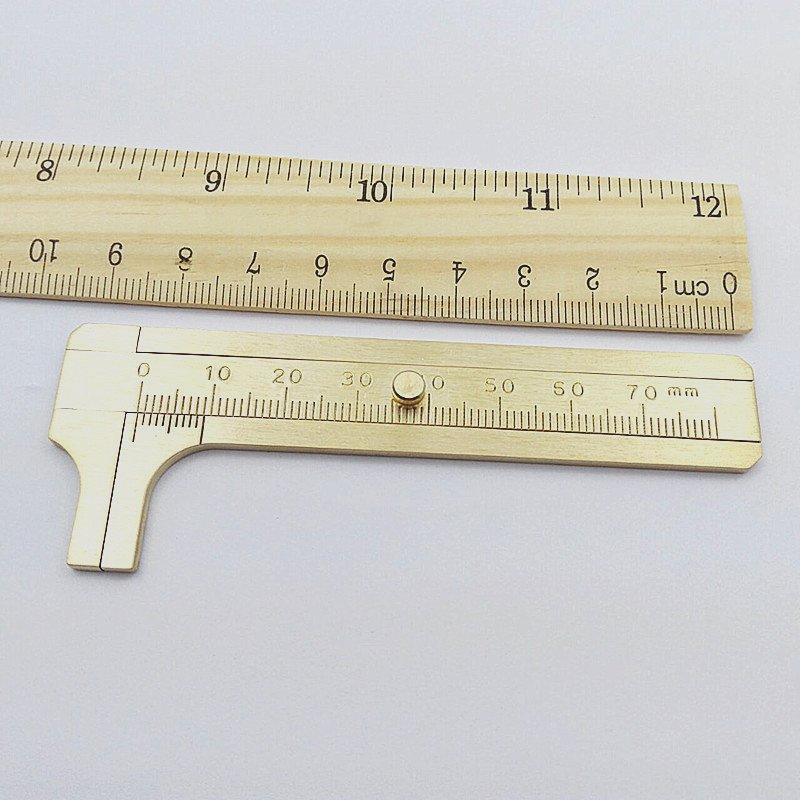 蜜久家黃銅卡尺 純銅文玩卡尺游標高精度工業級 迷你小型便攜家用量具# #