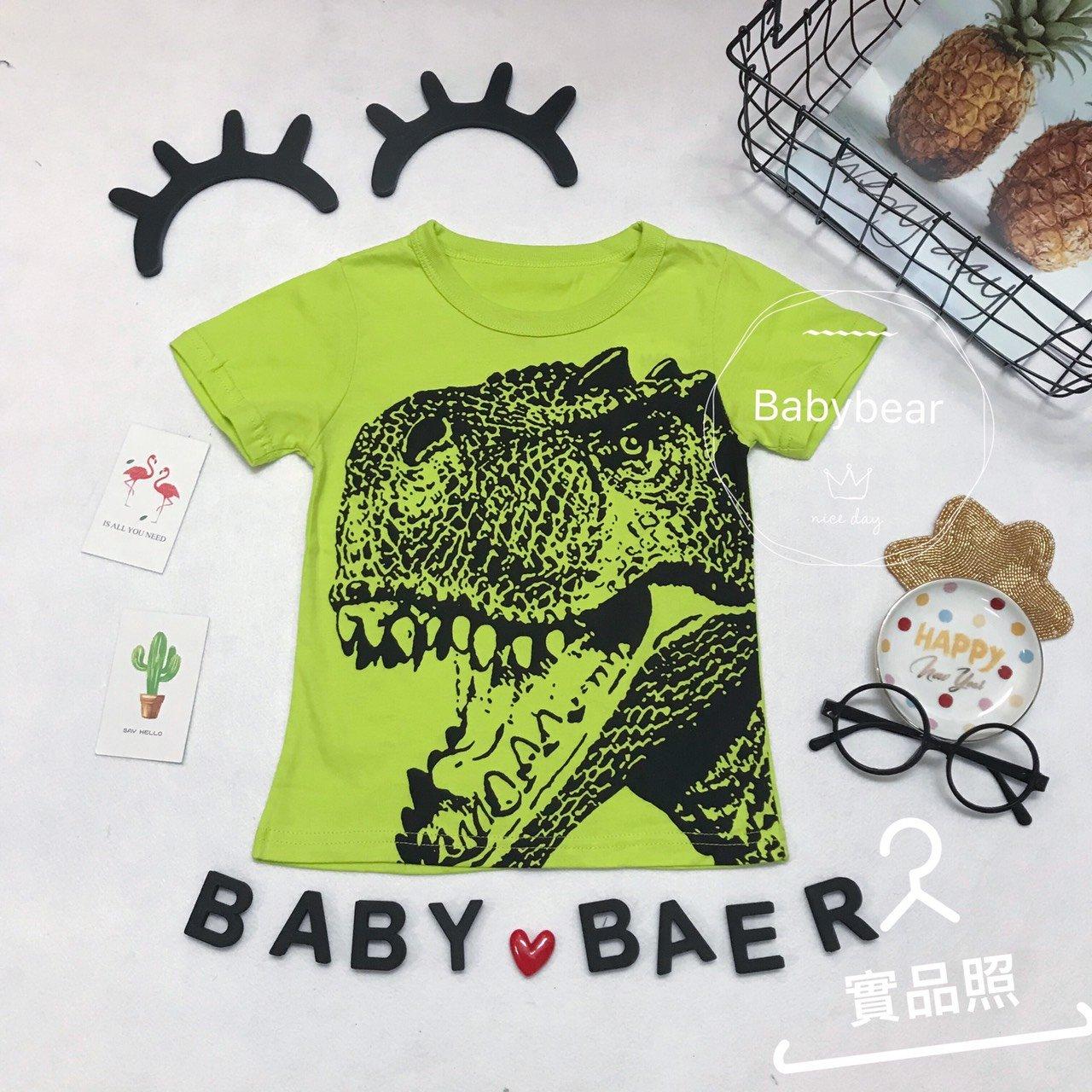 純棉 上衣 兒童 短袖 男寶 女童 衣服 男童 寶寶上衣 圓領