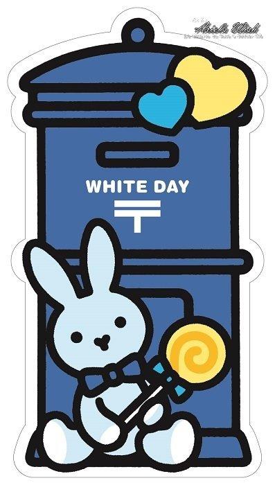 Ariel #x27 s Wish-超可愛2017 郵便局 發售款情人節愛心兔兔棒棒糖水藍色郵筒 郵筒明信片卡片