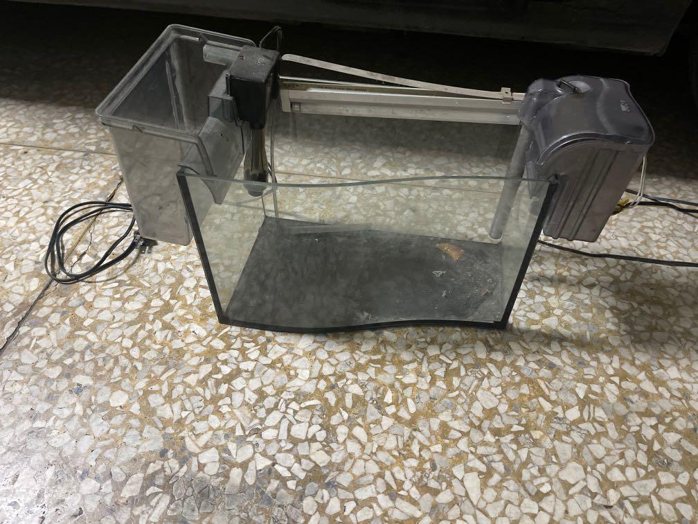 桌上型 觀賞魚 水族箱 附電燈