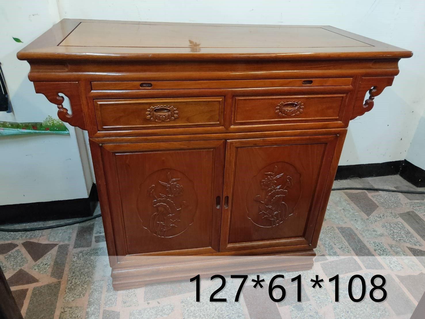 大溪二手家具-神桌、供桌、色澤優 、佛桌、上下桌、神明桌、供奉桌、祖先桌 藝品回收藝品二手買賣
