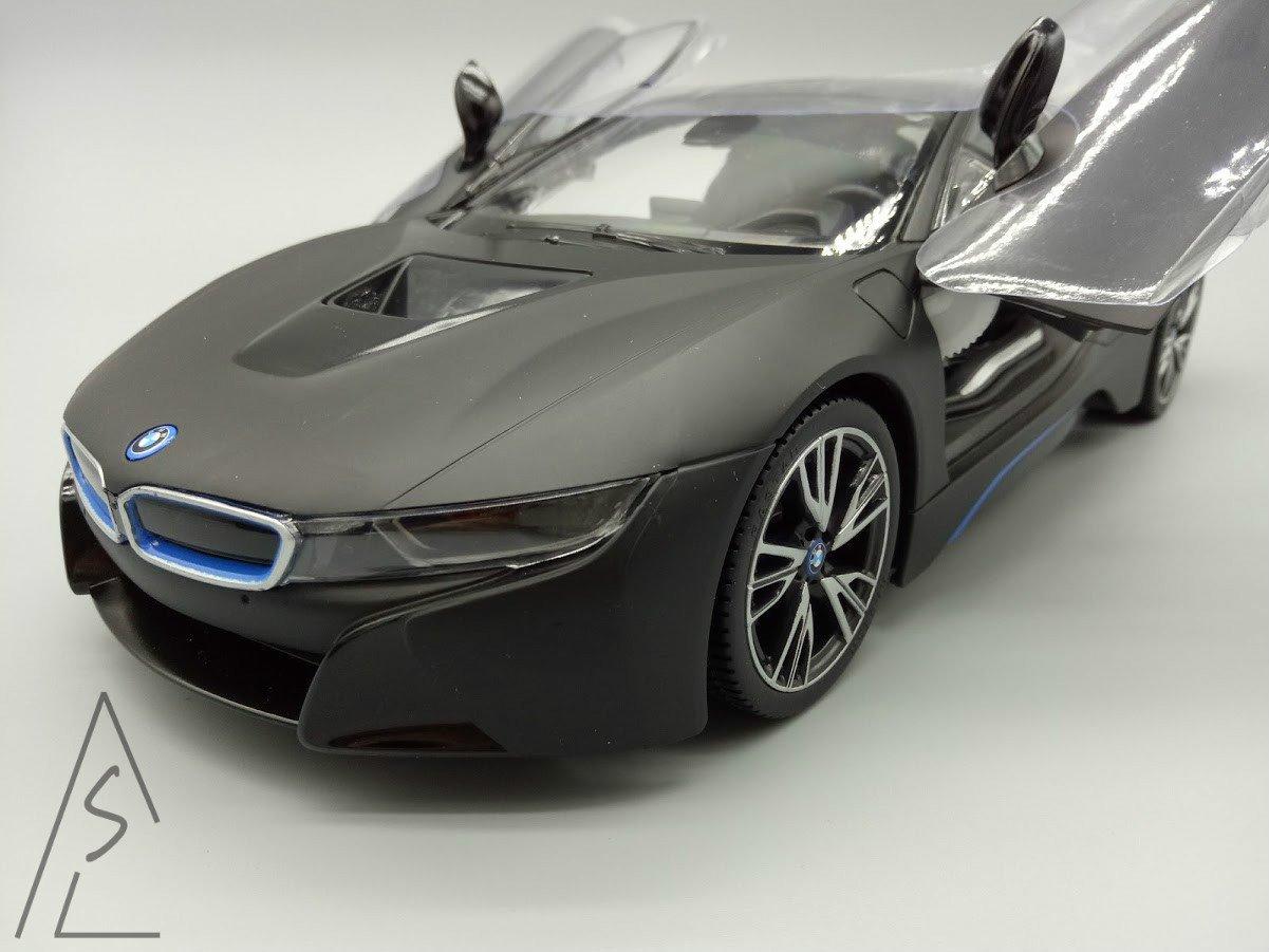 阿莎力 1/14 BMW 原廠授權 I8 消光黑 遙控開門 非賓士 法拉利 藍寶堅尼 GTR 聖誕禮物新年禮物