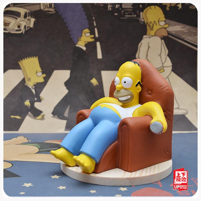 思思潮流公仔 辛普森 沙發躺姿勢 荷馬手工DIY 玩具擺件