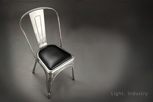 【 輕工業 】工業風瑪萊金屬餐椅-皮椅墊loft marais tolix a chair 復古靠背鐵椅法國吧檯椅沙發