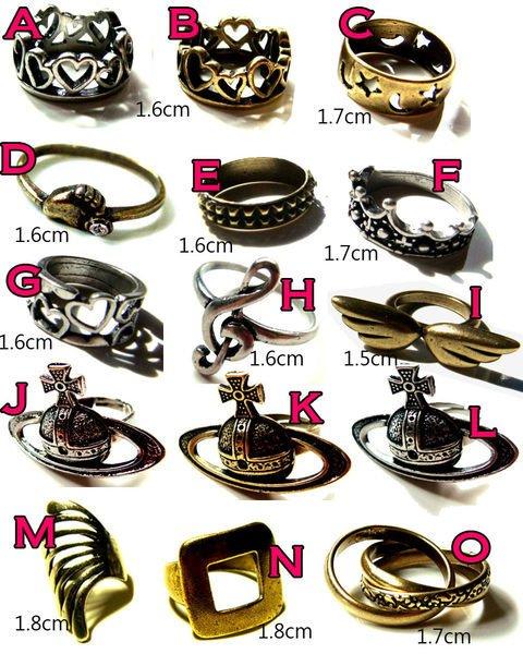 emi ☆ 帶回古銅系列戒指 薇薇安土星款 腳丫款 多款可選 超低 100