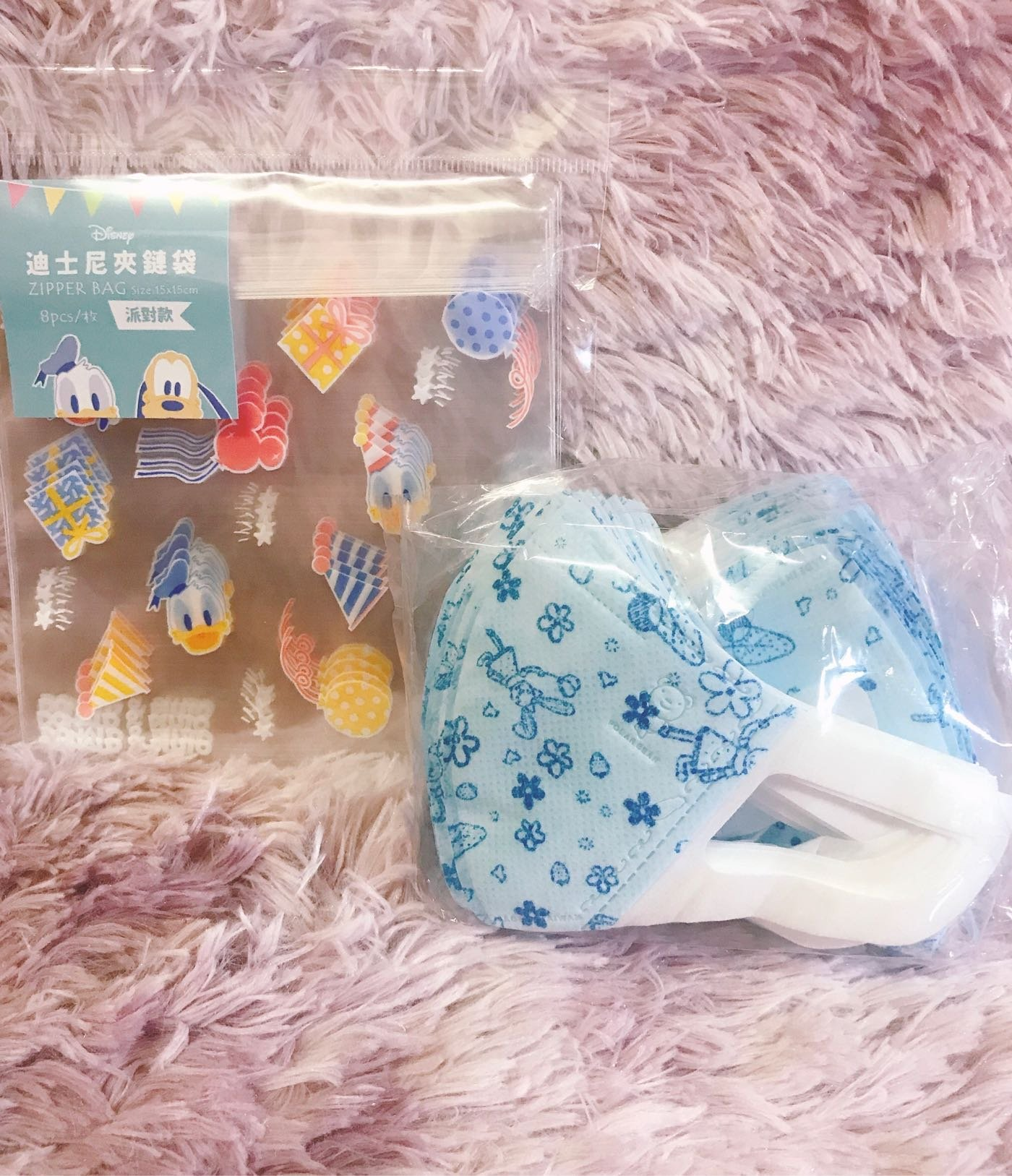 北極熊 幼幼口罩 立體耳掛式口罩 印花幼幼口罩 迪士尼夾鏈袋分裝 (7枚)