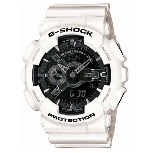 G-SHOCK 雪白重機裝置Man概念錶(GA-110GW-7A)-黑x亮白/52mm 限量