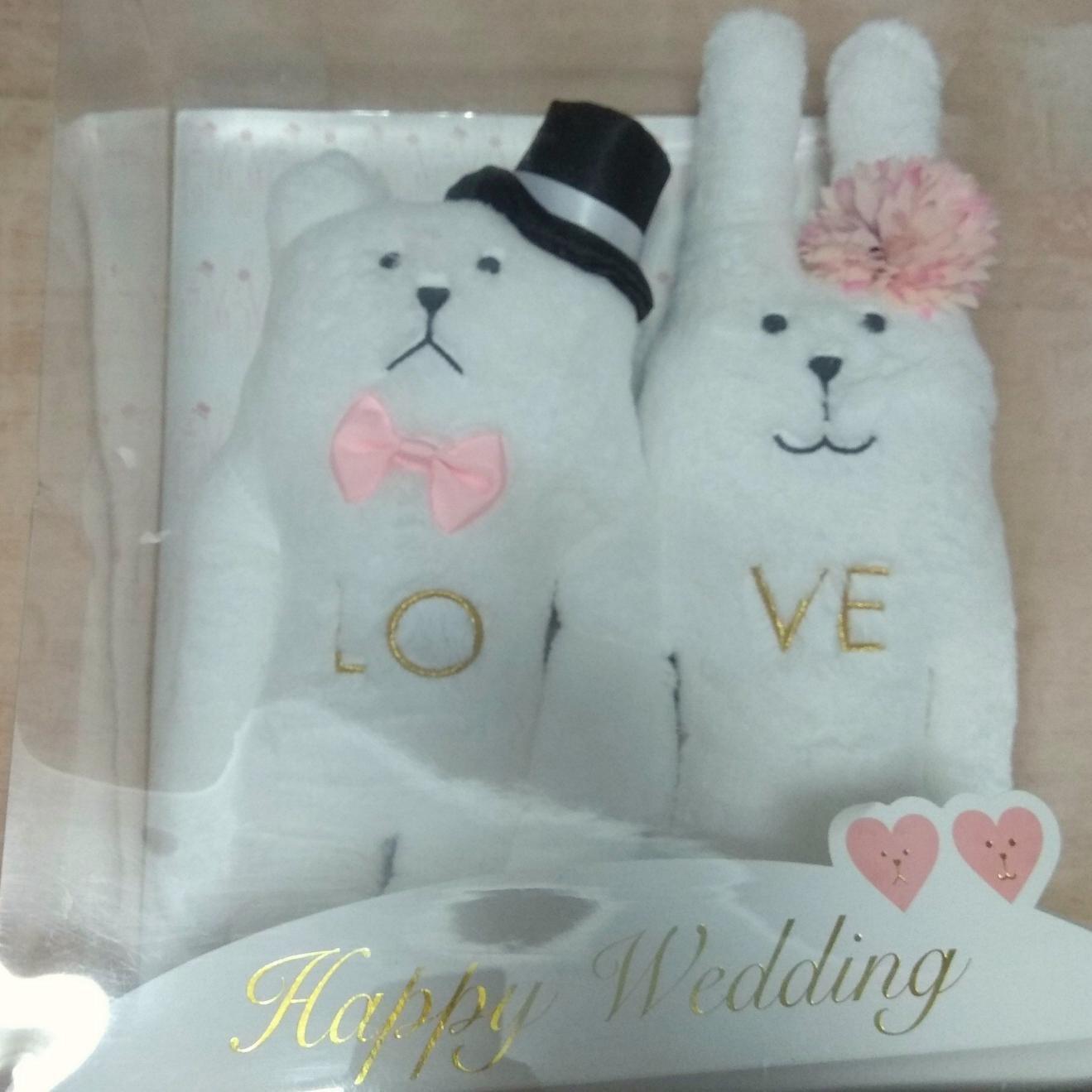 CRAFTHOLIC 宇宙人 結婚 禮盒 情人節 禮物 兔熊 擺飾 玩偶