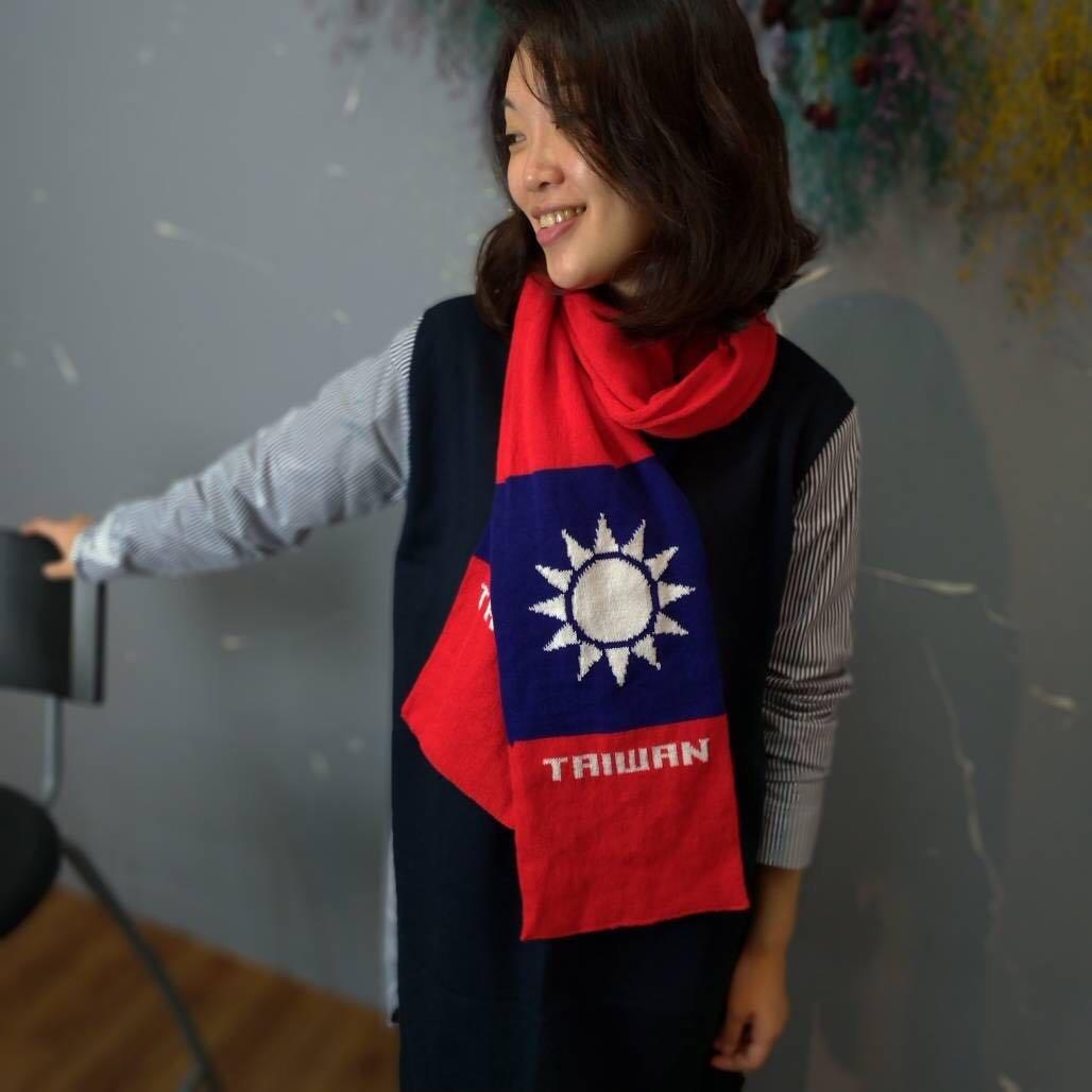 【國旗系列 】青天白日滿地紅 中華民國 國旗圍巾 TAIWAN ( 款*1)