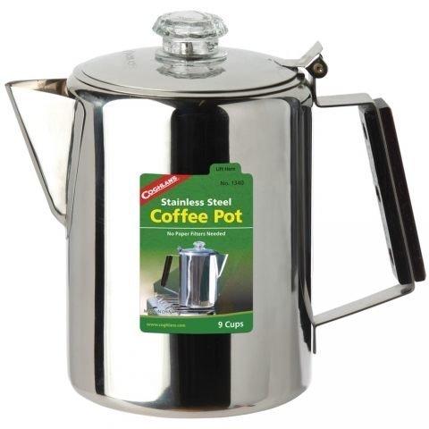 大營家購物網~Coghlans #1340 不鏽鋼咖啡壺 9杯 Stainless Steel Coffee Pot 9 Cup