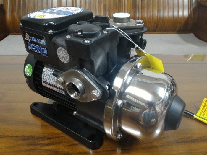 【優質五金-大井經銷商】WALRUS HQ200 1/4HP電子穩壓加壓馬達*加壓機 HQ200B*非大井TQ200