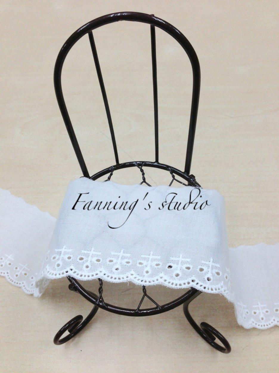 【芬妮卡Fanning服飾材料工坊】十字三瓣花棉布蕾絲 1碼入
